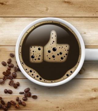 Kaffeetasse mit Like