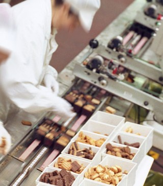 production line in a food industry